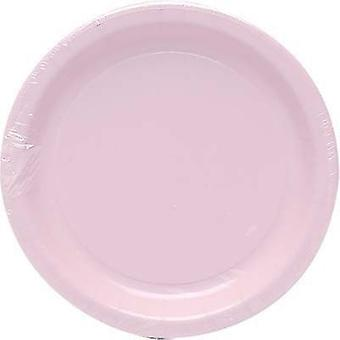 Plt7 12/8Ct Candy Pink Plates