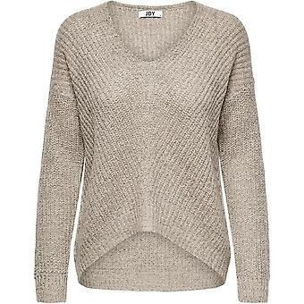 JDY Womens NewMe Knit Jumper Long Sleeve V-Neck Blouse Knitted Top