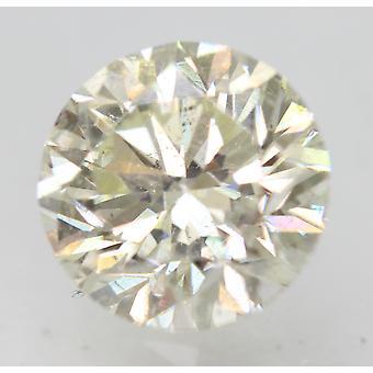 Certified 1.21 Carat I VVS2 Round Brilliant Enhanced Natural Loose Diamond 6.64m