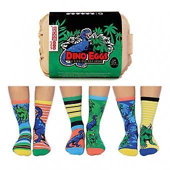 United Oddsocks Dinosaur Themed Boys Odd Socks