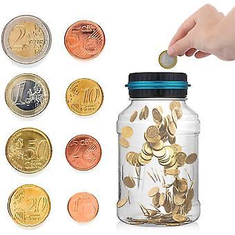 Digitale Sparschwein-Zhler Automatische Mnzzhlglas Spardose Geld sparen Box Mnze Spartopf Container