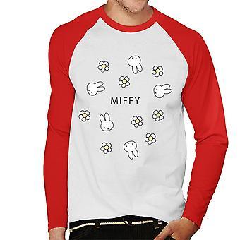Nijntje Madeliefjes Heren's Baseball T-Shirt met lange mouwen
