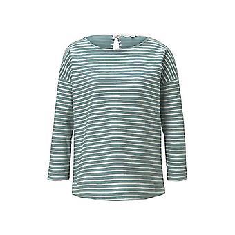 Tom Tailor 1023366 Loose Fit t-paita, 26424/ minttu rakenne nauha, keskikokoinen nainen