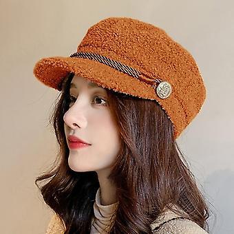 Новые зимние шапки Newsboy, женщины теплые шапки