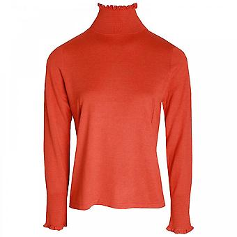 Oui Polo Neck Long Sleeve Knitted Jumper