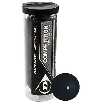 Dunlop-kilpailun squashpallot (pakkaus 3)