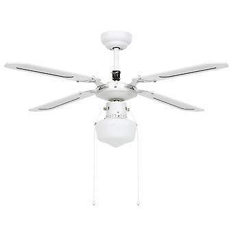 vidaXL ventilateur de plafond avec lampe 106 cm blanc