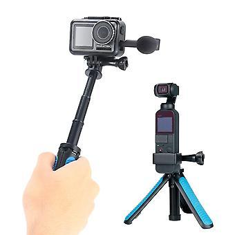Gopro Hero 5 6 7 8 9 için Osmo Action Sjacam için Mini El Selfie Çubuğu Tripod