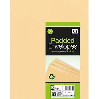 Anker Padded Brown Envelopes 290 x 370 Pack 3