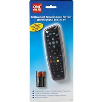 En för all fjärrkontroll för digital satellitbox och TV