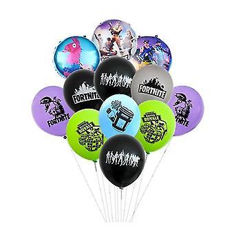 جديد 12pcs-c fortnite بالونات لعبة القلعة لعبة بالون ليلة sm17332