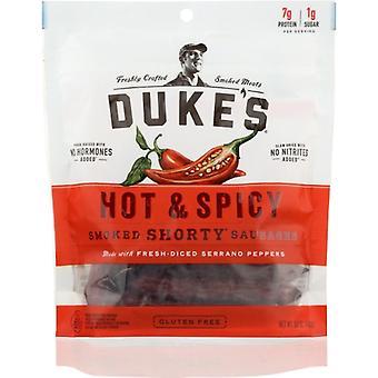 Dukes Sausage Smkd Shrty Hot S, Case of 8 X 5 Oz