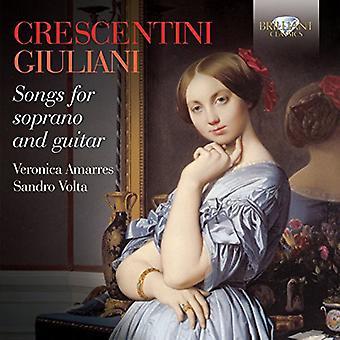 Crescentini/Giuliani/Volta/Amarres - Songs for Soprano & Guitar [CD] USA import