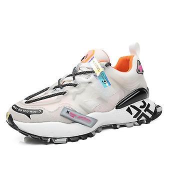 Sneakers Mocka Äkta Läder Chunky Skor Manliga Skor
