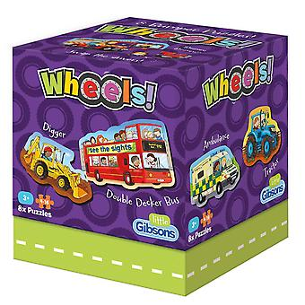 Gibsons Wheels Jigsaw Puzzles (8 x 4-16 Pieces)