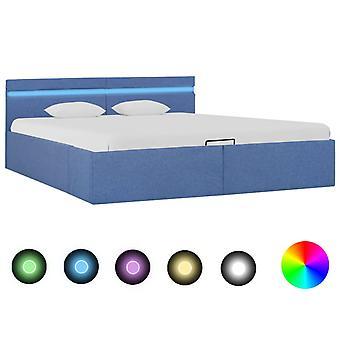vidaXL säilytystila sänky Hydraulinen LED sininen kangas 180×200 cm
