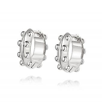 Daisy Tahliah Huggie Hoop Sterling Silver Earrings HUG06_SLV