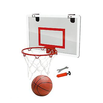 1pc Door Hanging Basketball Board No Punching Hanging Basketball Plate Transparent Suspension Basketball Board Mini Backboard For Home Office Red Seri