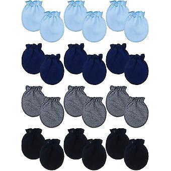 12 Paare Neugeborene Baby Baumwoll Handschuhe Kleinkind Keine Kratz Handschuhe für 0 - 6 Monate Baby
