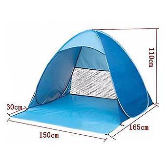 Prenosný automatický pop up plážový prístrešok Sun UV Shade Shelter Vonkajší kempingový stan Outdoor (modrý)