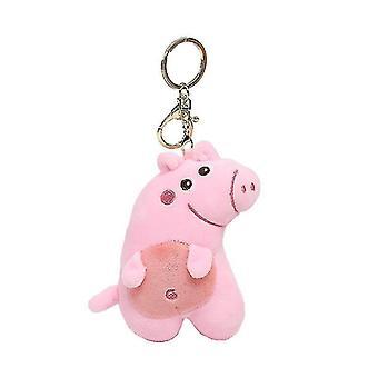 Różowy naughty świnia brelok breloczek klucz wisiorek wisiorek świnia lalka plush torba wisiorek