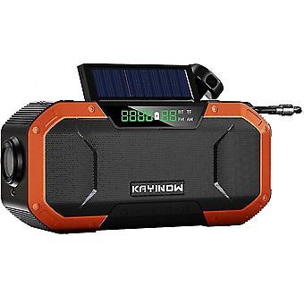 Solar hand-cranked radio, outdoor multi-function emergency radio, bluetooth speaker(Color-5)
