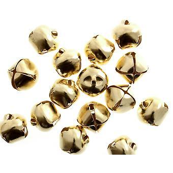 100 Gull 12mm Gull Jingle Bjeller for håndverk