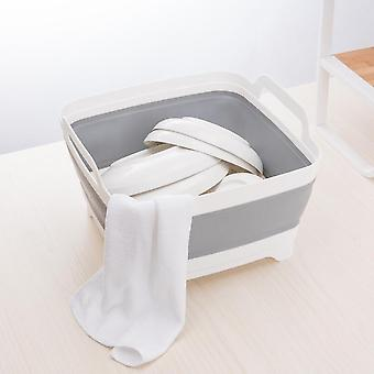 Kitchen cabinets portable and fold able plastic wash bucket creativekitchenclean tool