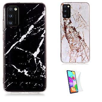 Samsung Galaxy A41 - Shell / Bescherming / Marmer