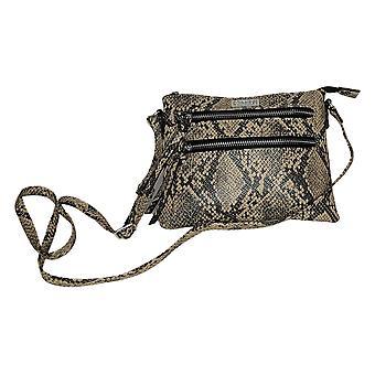 Carlos By Carlos Santana Croco-Textured Crossbody Beige Handbag 731848