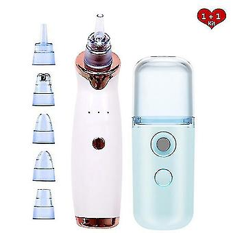 Acne treatments kits rechargeable blackhead remover face vacuum pore cleaner suction acne pimple removal nano facial