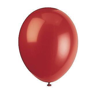 """Balloons unique party 56852 - 12"""" latex cherry red balloons  pack of 50"""