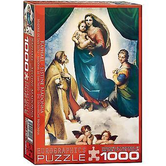 Jigsaw puzzles sistine madonna detail by raphael puzzle 1000 pieces