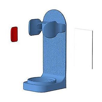 Wandmontierbarer und verstellbarer elektrischer Zahnbürstenhalterständer (Blau)