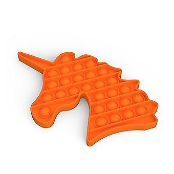 Pop it fidget sensorische Spielzeug Linderung für Stress und Angst (J - Orange)