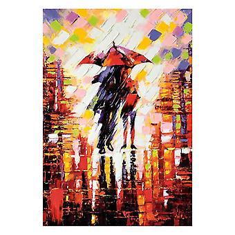 1000 قطعة لغز الكبار الأطفال Diy لغز هدية الرياح والمطر مجموعة