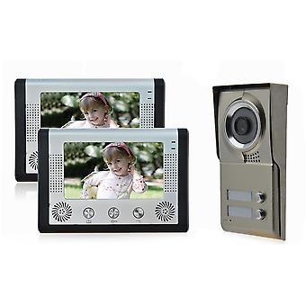 """2x 7""""-tommers skjerm for LCD-skjerm, videointercom-dørtelefon"""