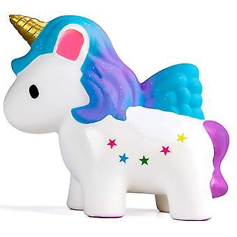 12cm yksisarvinen hevonen hitaasti nouseva stressin helpotus puristaa leluja lapsille