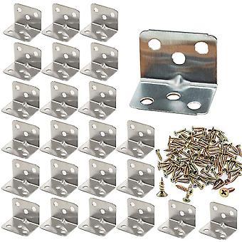 Connecteur d'angle de coude en acier galvanisé extra résistant - 25 pièces