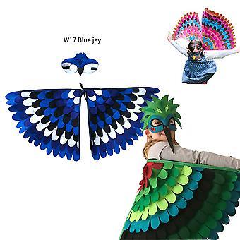 Creative Dress Up for Children's Party Halloween Rekvisitter Filt Wings
