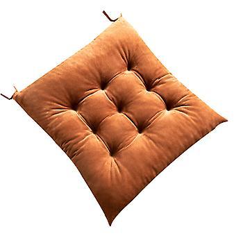 Chaise carrée épaississante couleur unie Coussin en peluche - 40 * 45cm