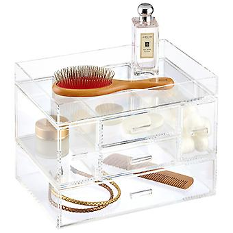 OnDisplay Venice 5 Drawer Tiered Acrylic Makeup/Jewelry Organizer