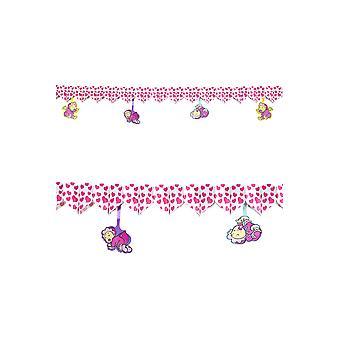 Partij decoratie guirlande roze harten babydouche gunsten