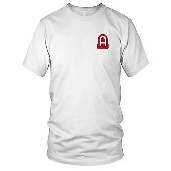 US Army - 14 fiktiva fältarmén broderad Patch - WWII Mens T Shirt