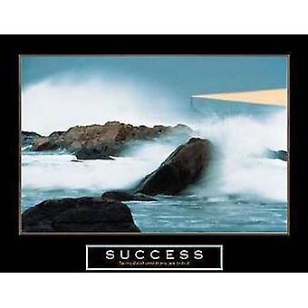 Erfolg - Leuchtturm Poster drucken (28 x 22)