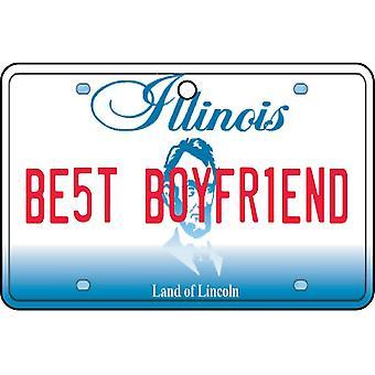 Illinois - Best Boyfriend License Plate Car Air Freshener