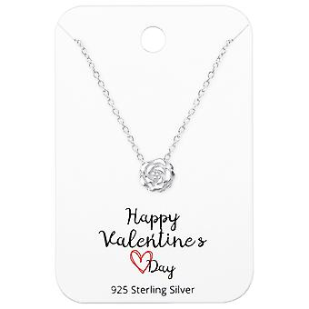 Collane di Rose su Happy Valentines Day Card - 925 Sterling Silver moda - W36069X
