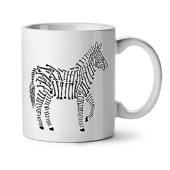 Zebra Skeleton Animal NEW White Tea Coffee Ceramic Mug 11 oz | Wellcoda