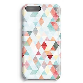 iPhone 7 Plus pełna obudowa głowiczki (błyszcząca) - pastelowe kolorowe Trójkąty