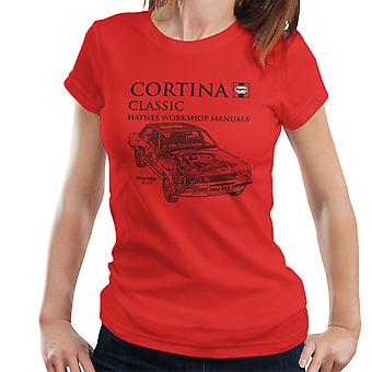 Haynes Owners Workshop Manual 0343 Ford Cortina Classic Black Women's T-Shirt